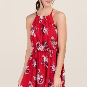 Mary Floral A-Line Dress