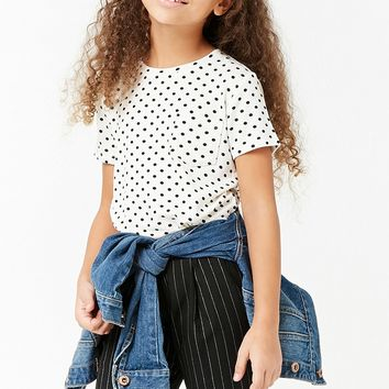Girls Polka Dot Pocket Tee (Kids)