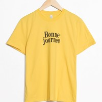 & Other Stories   Graphic T-Shirt   Yellow