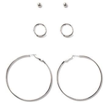 Stud & Hoop Earring Set