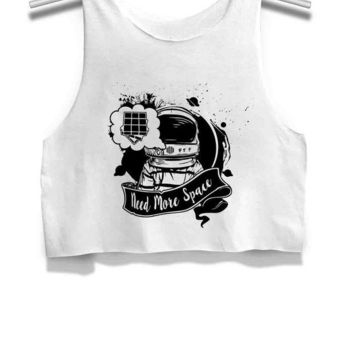 DCCKL83 Astronauts Need More Space Womens Crop Tank Top