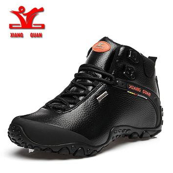 xiangguan 2017 Climbing boots men outdoor hiking shoes for men anti slip sport shoes resistant Sneaker men trekking shoes men