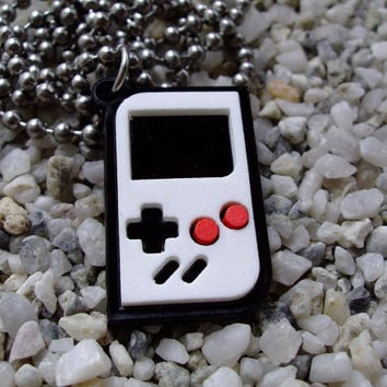 Game Boy laser cut acrylic pendant necklace or key chain