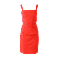 Shoshanna Womens Ruched Square Neck Cocktail Dress