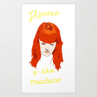 Florence + the Machine Art Print by Strangeness & Charm