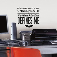 Batman Quote Peel & Stick Wall Decal (Black)