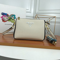 PRADA WOMEN'S CAHIER LEATHER INCLINED SHOULDER BAG