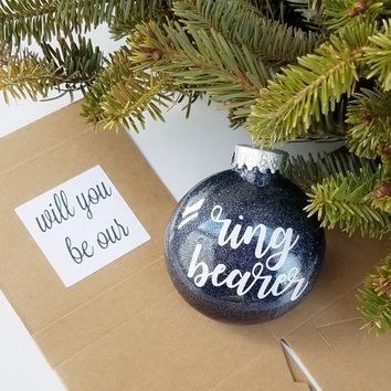 Will You Be Our Ring Bearer Ornament Proposal Box