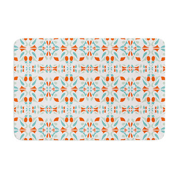 "Miranda Mol ""Italian Kitchen Orange Green"" Memory Foam Bath Mat"