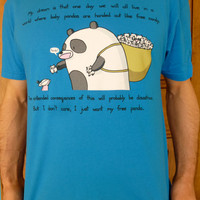 Free Panda Tshirt available in mens and womens