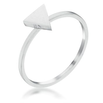 Stainless Steel Triangle Stackable Ring