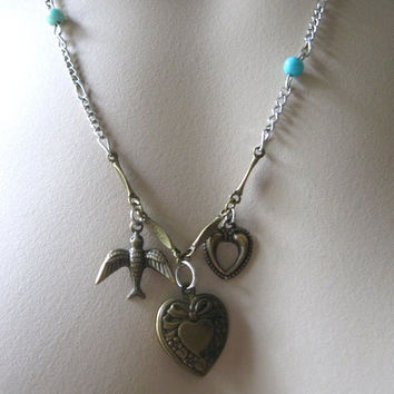 Bird Love Charm Necklace