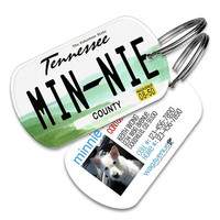 Tennessee License Plate Pet Tag - Personalized Pet ID Tags, Custom Dog Tags, Cat ID Tag, Dog Name Tags, Dog Tags for Dogs, Dog License Tags