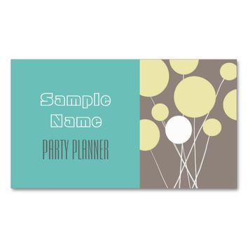 party planner business cards double sided custom