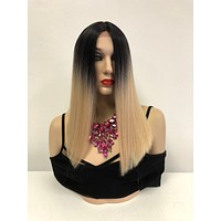 Blond Ombre' Lace Front Wig   Blunt CUT BOB Hair   Kim