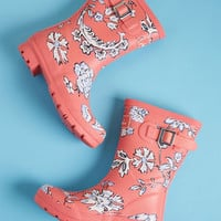 Just Splashing Through Rain Boot in Pink Floral