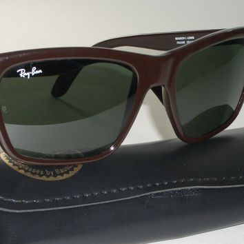 56mm BAUSCH & LOMB RAY-BAN L1720 CHOCOLATE BROWN G15 CATS 3000 SKI SUNGLASSES