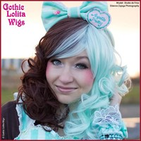 Lady Grace Collection - Mint Chocolate Split - Gothic Lolita Wigs Store