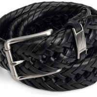"Nautica Men's 1 1/4"" Braided Belt,Black,44"
