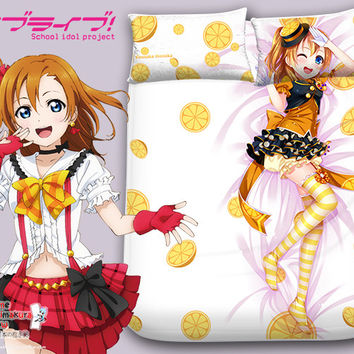 New Kousaka Honoka - Love Live Japanese Anime Bed Blanket or Duvet Cover with Pillow Covers Blanket 2