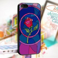 Beauty and Beast rose glass - Photo On Hard Cover For iPhone 4,4S