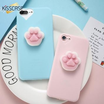 KISSCASE 3D Squishy Case For iPhone 5 6 6s 7 7 Plus Lovely Cute Funny Animal Soft TPU Cover Case For iPhone 5 5S SE 6 6s 7 Plus