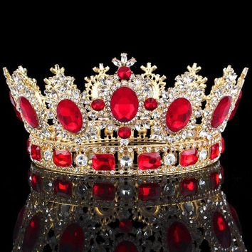 Cool Luxuries Crystal flower Tiara Crown Headdress Prom Queen King crown for Wedding Tiaras and Crowns Hair jewelry AccessoriesAT_93_12