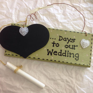 Wooden Plaque Wedding Countdown