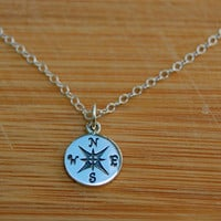Confidently compass Necklace- Charm necklace, BFF necklace, Graduation necklaces, Simple necklace, Everyday wear necklace.
