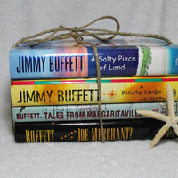 Jimmy Buffet Instant Library, Including Vintage Books, Photo Prop, Table Decor