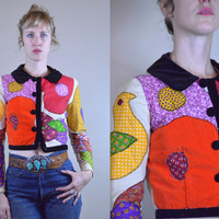 Vintage 70s MOUNTAIN ARTISAN Custom Patchwork Crop Jacket