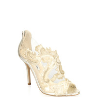Ambria Metallic Embroidered Sandals by Oscar de la Renta - Moda Operandi