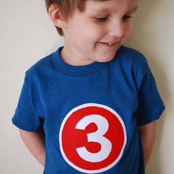 Halloween Action Hero Costume Superhero Birthday Shirt- Boys Tshirt for Cape