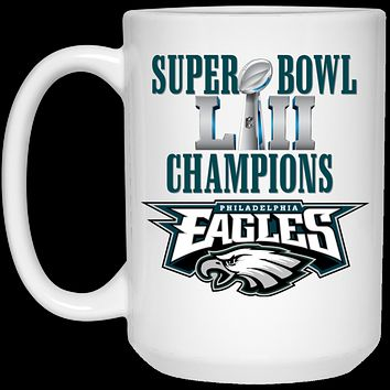 Super Bowl 52 Champions Philadelphia Eagles v2 21504 15 oz. White Mug