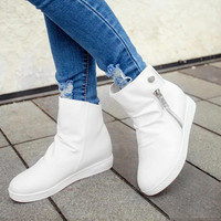 female warm ankle boots  boots snow boots 2 color Height Increasing winter shoes