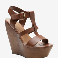 Rainbow T Strap Wood Wedge