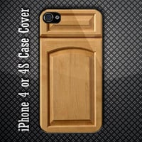 Unique Wood Carving Custom iPhone 4 or 4S Case Cover