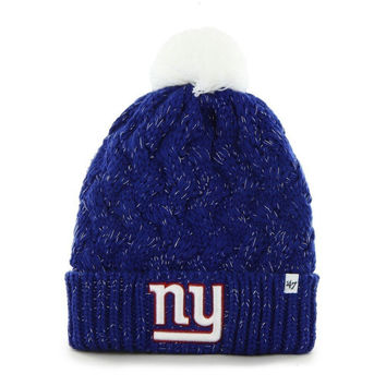New York Giants - Logo Fiona Women's Royal Pom Pom Beanie