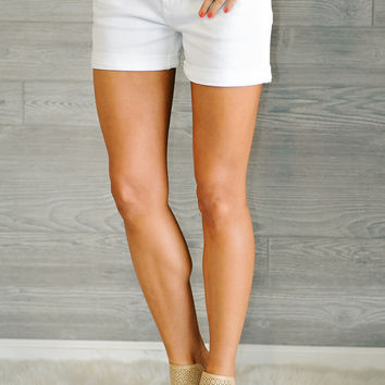 *  Mindy Dear John Jean Short: White