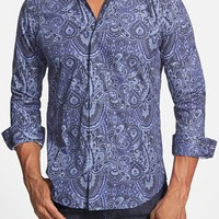 Men's Bogosse 'Blake 63' Shaped Fit Paisley Print Sport Shirt