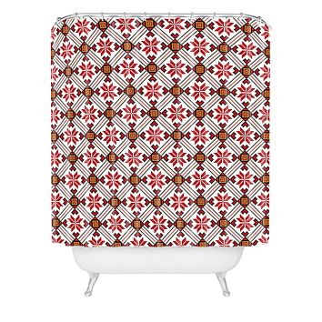 Belle13 Deco Pattern Shower Curtain