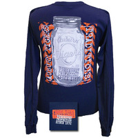Auburn Tigers War Eagle Perfection Mason Jar Bright Girlie Long Sleeve T Shirt