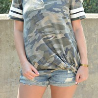 Lucky Break Top - Camo