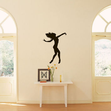 Ballet Dance Studio Ballerina Sports Shapely Dancing Girl Housewares Wall Vinyl Decal Art Design Murals Interior Decor Sticker SV1946