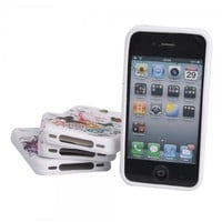 FREE SHIPPING! Butterfly Pattern TPU Hard Case for iPhone 4 from Claudia's Elegant Boutique
