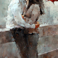 Andre Kohn The Kiss series #17 [Andre Kohn_A7202] - $99.00 oil painting for sale|Wonderful artwork|Buy it at once.