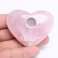 """Love Stone"" Rose Quartz Crystal Smoking Pipe"