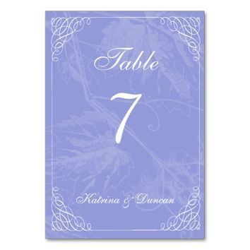 Swirl Lavender Grapevine Personalized Table Card