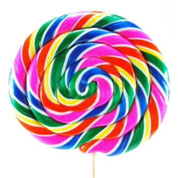 Whirly Pop 24-Ounce Swirl Suckers - Rainbow: 10-Piece Case