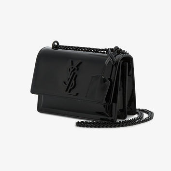 SMALL BLACK PATENT SUNSET MONOGRAMME BAG